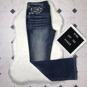 NWOT Miss Me blue embellished bootcut jeans sz 32